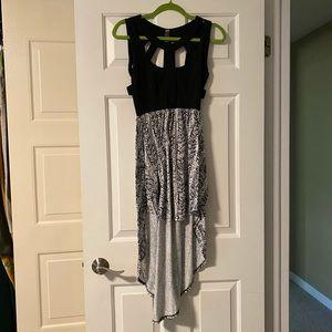 Black and white hi-lo dress